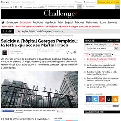 Suicide à l'hôpital Georges Pompidou: la lettre qui accuse Martin Hirsch