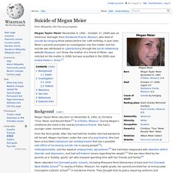 Suicide of Megan Meier