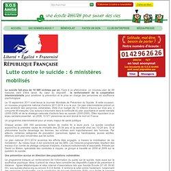 Lutte contre le suicide : 6 ministères mobilisés
