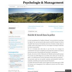 Suicide & travail dans la police