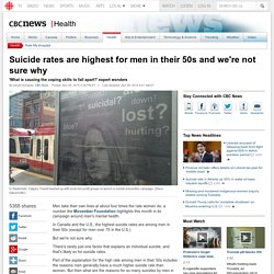 Suicide rates are highest for men in their 50s and we're not sure why - Health