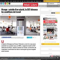 Orange : suicide d'un salarié, la CGT dénonce les conditions de travail