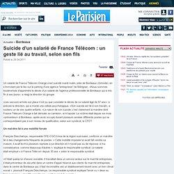 Suicide par le feu à France Télécom : la direction promet une enquête - 26/04/2011
