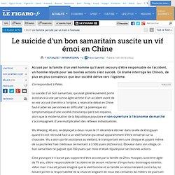 Le suicide d'un bon samaritain suscite un vif émoi en Chine