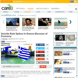 Suicide Rate Spikes In Greece Because of Economy