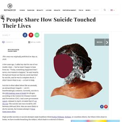 Suicide Stories – Survivors, Loss Of A Loved One