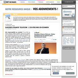 Suicides France Telecom : l'ex-PDG mis en examen
