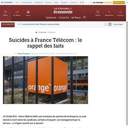 Suicides à France Télécom : le rappel des faits
