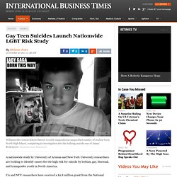 Gay Teen Suicides Launch Nationwide LGBT Risk Study