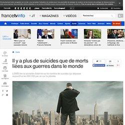 Il y a plus de suicides que de morts liées aux guerres dans le monde
