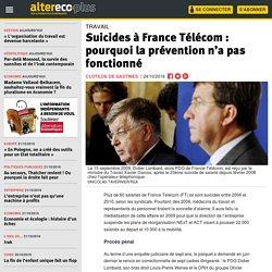 Suicides à France Télécom : pourquoi la prévention n'a pas fonctionné