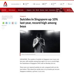 Suicides in Singapore up 10% last year, record high among boys
