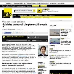 Suicides au travail : le pire est-il à venir ? - C'est mon boulot - Économie