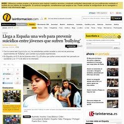 Llega a España una web para prevenir suicidios entre jóvenes que sufren 'bullying'