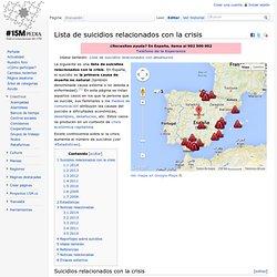 Lista de suicidios relacionados con la crisis