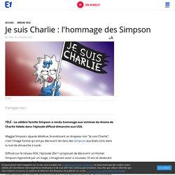 Je suis Charlie : l'hommage des Simpson