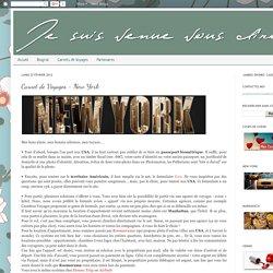 Carnet de Voyages - New York