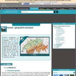 Suisse : géographie physique