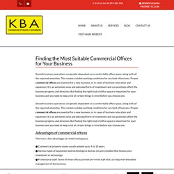 Finding the suitable commercial offices for your business