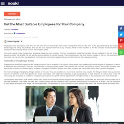 Get the Most Suitable Employees for Your Company
