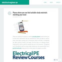 pe exam electrical power