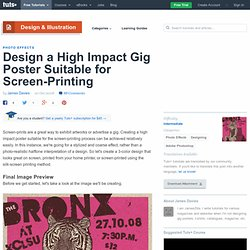Design a High Impact Gig Poster Suitable for Screen-Printing