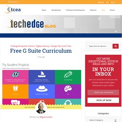 Free G Suite Curriculum - TechNotes Blog - TCEA