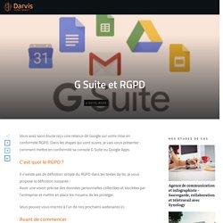 G Suite et RGPD - Darvis - Digital Gagnant
