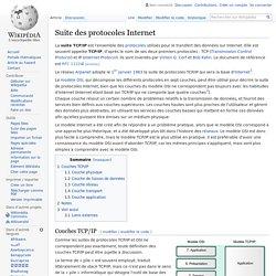Suite des protocoles Internet