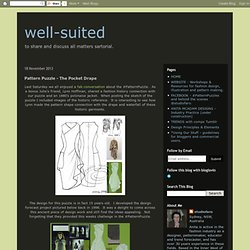 well-suited: Pattern Puzzle - The Pocket Drape