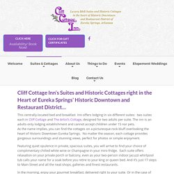Suites, Cottages & Studio - Cliff Cottage Inn