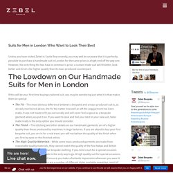 Suits for Men in London Who Want to Look Their Best