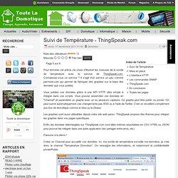 Suivi de Température - ThingSpeak.com