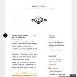 Suivons la réforme des collectivités locales ! « Le blog de l'Ad