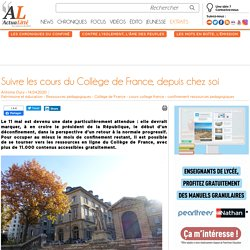 Suivre les cours du Collège de France, depuis chez soi