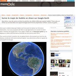 Suivre le trajet de Hubble en direct sur Google Earth