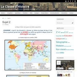 Sujet 2 – La Classe d'Histoire
