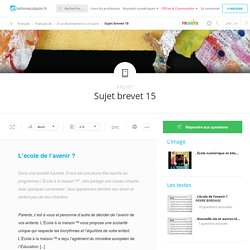 "Sujet brevet / ""La classe de Maïtre Moda"", Pierre Bordage"