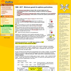 1989 - 2017 : Minimum garanti & sujétions particulières- Famidac