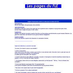 Sujets de rédaction et d'expression écrite pour la classe de FLE