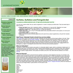 Sulfates, Sulfation and Feingold diet « livingnetwork.co.za/