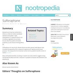 Sulforaphane - 1 Unique Secret About This Antioxidant