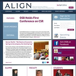 ALIGN | Suliman S. Olayan School of Business News