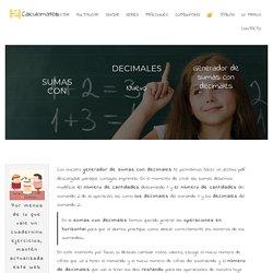 □▷Sumas con decimales 【Customizalas a tu gusto】 en PDF
