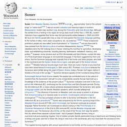 Sumer - Wikipedia, the free encyclopedia - Мозилин фајерфокс (Mozilla Firefox)