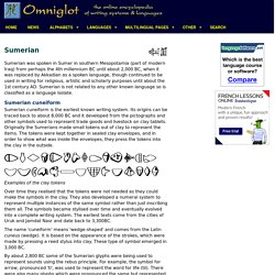 Sumerian cuneiform script and Sumerian language