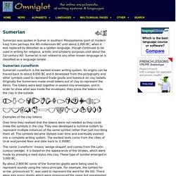 Sumerian cuneiform script and Sumerian language