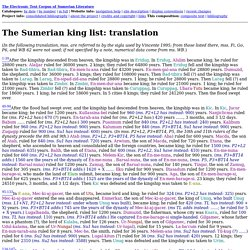 The Sumerian king list: translation - Мозилин фајерфокс (Mozilla Firefox)