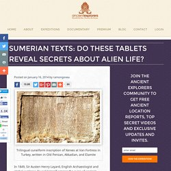Sumerian Texts: Do These Tablets Reveal Secrets About Alien Life?