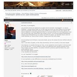 le Suminagashi - peinture sur eau - papier marbré japonais (Page 1) – Dessin, Peinture & Photographie – Forum de la Culture Gothique - Toile Gothique